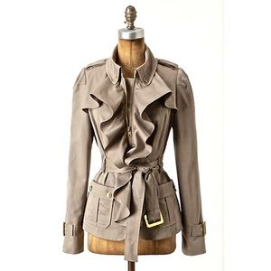 Anthropologie Ruffled Jacket